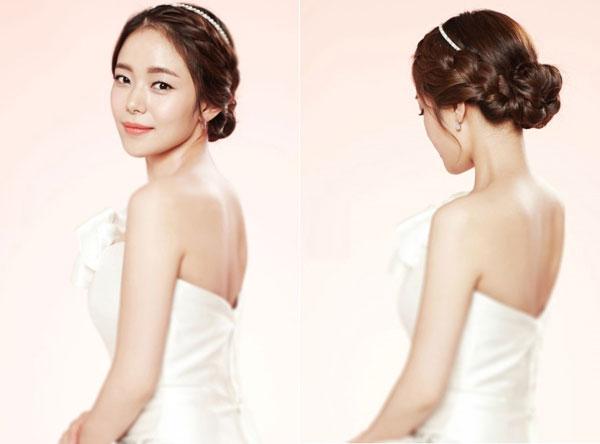 Kiểu tóc cô dâu Hàn Quốc đẹp hút hồn giới trẻ